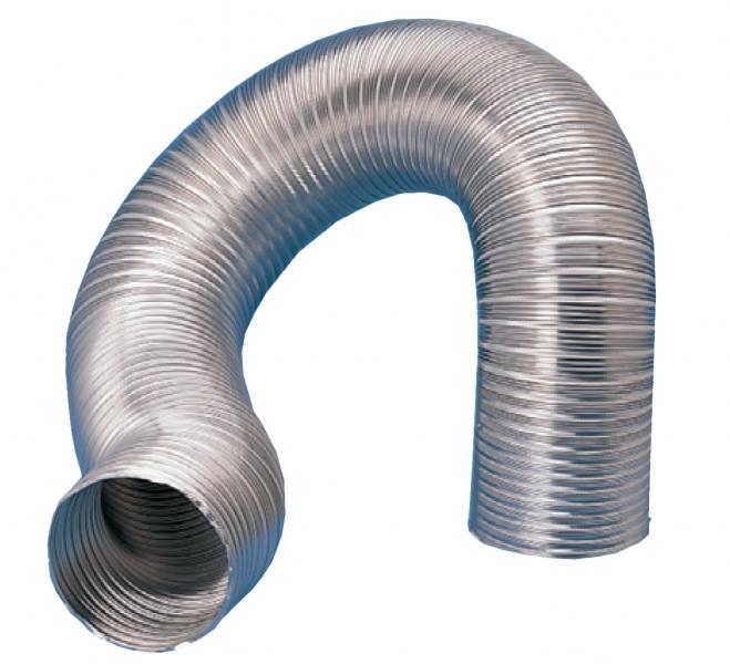 Gaine semi rigide aluminium d125mm longueur 3 m s p - Gaine de ventilation ...