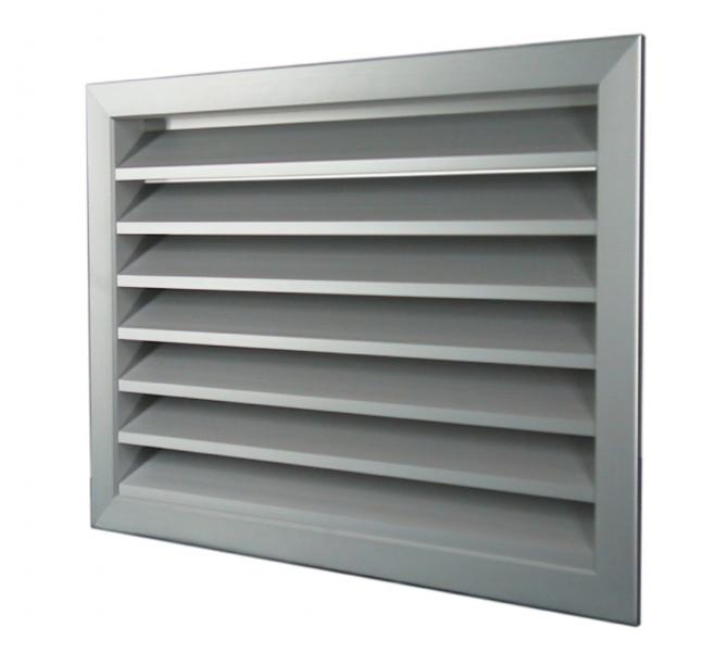 Grille aluminium exterieure diametre 400x400 s p france - Grille de ventilation exterieure aluminium ...