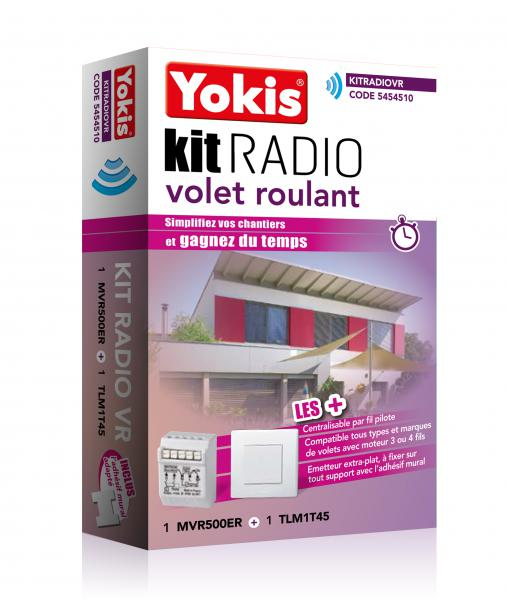 kit radio volet roulant yokis domotique ref kitradiovr commandes radio distance radio kit. Black Bedroom Furniture Sets. Home Design Ideas
