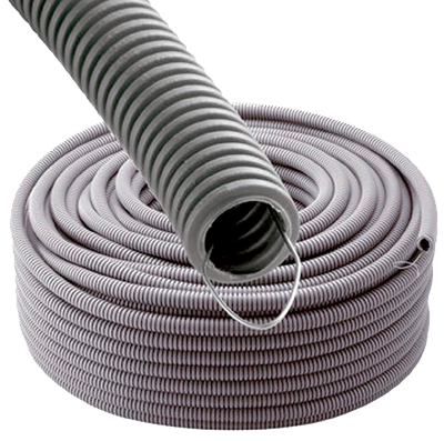 WIREPLAST - Gaine annelée 20 GRIS ATF 100M