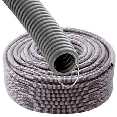 WIREPLAST - Gaine annelée 20 GRIS STF 100M