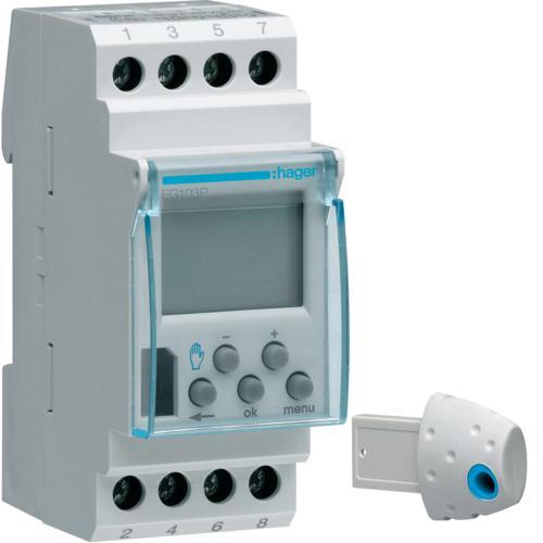 Programmateur modulaire lectronique chauf lec avec fil pilote 1 zone 7j 230v hager ref eg103p for Programmateur chauffage electrique fil pilote zones