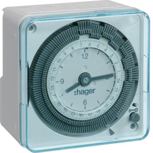 interrupteur horaire 72x72 lectrom canique 1 voie sur 24. Black Bedroom Furniture Sets. Home Design Ideas