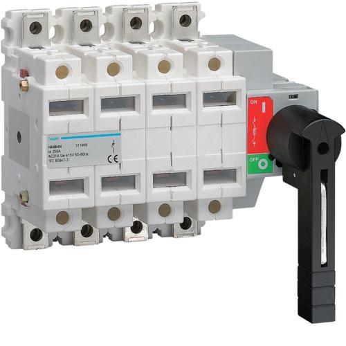 Interrupteur coupure visible 4p 250a hager ref ha964n interrupteurs interrupteur - Sectionneur porte fusible telemecanique ...