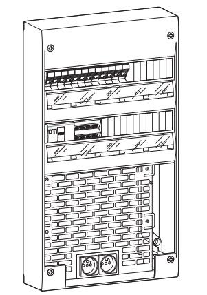 coffret de communication vdi semi quip 2 rang es 36. Black Bedroom Furniture Sets. Home Design Ideas