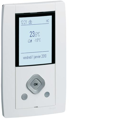 Kallysta gestionnaire d nergie knx module d ambiance blanc hager ref wkt660 - Gestionnaire d energie hager ...