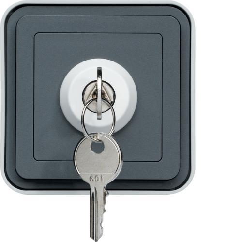 cubyko interrupteur cl 3 positions saillie gris ip55. Black Bedroom Furniture Sets. Home Design Ideas