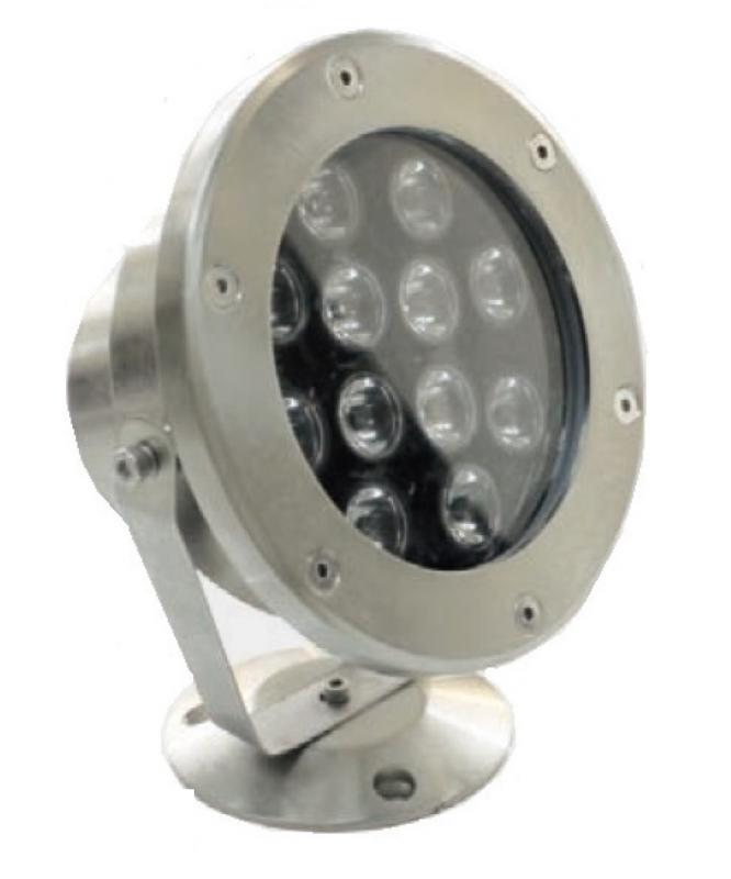 Spot inox 316l 12w rgb faisceau 40 bf light ref for Spot inox exterieur
