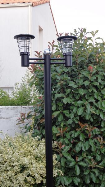 Mini lampadaire 2 4w acier inoxydable artlux ref arl for Mini lampadaire exterieur