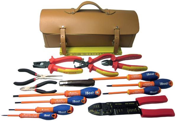 sac cuir pour electricien 15 outils eurosgos ref 166el15. Black Bedroom Furniture Sets. Home Design Ideas