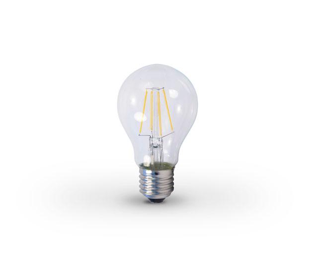 ampoule led e27 6w filament chaud 2e led ref 2el a e27 6w w fil source led lampes standards. Black Bedroom Furniture Sets. Home Design Ideas