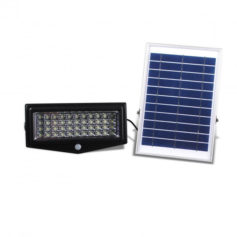 Projecteur a panneau solaire deporte 2e led ref 2el ppd for Luminaire exterieur solaire led