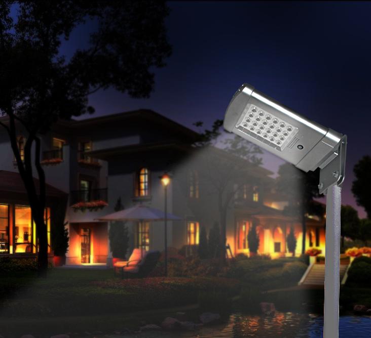 Lampadaire solaire 1000lm avec d tecteur de pr sence 2e - Luminaire exterieur detecteur de presence ...