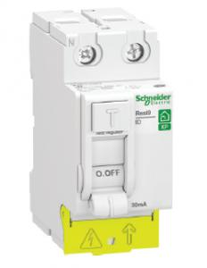 SCHNEIDER ELECTRIC Resi9 XP - inter différentiel - 2P - 63A - 30mA - Type AC - peignable - alim bas